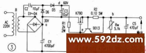 60v稳压12v三级管接线图