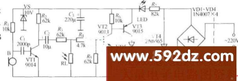 立元件声光控楼梯延迟开关电路(3)