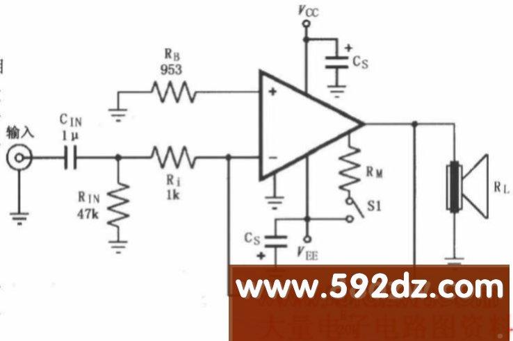 由lm4781构成的反相功率放大电路_音频电路图_我就爱