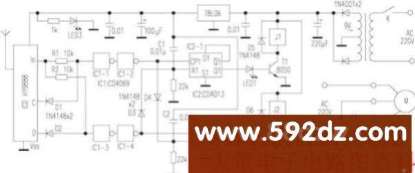 该装置发射/接收部分改用T966/T988多路无线发