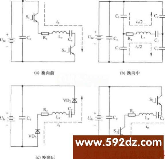 简化的含有谐振极电容缓冲器的串联谐振逆变器主拓扑电路
