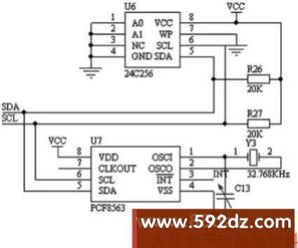 pcf8563典型电路