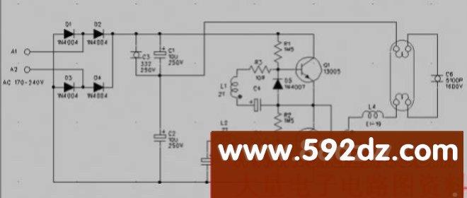 40w电子整流器电路