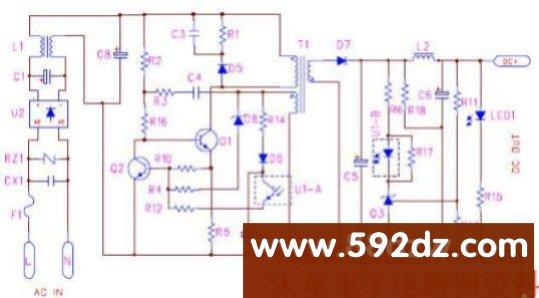 下面我来通过以下典型应用电路来说明tl431,pc817 的配合问题.
