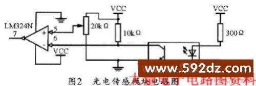 放大器lm324可用作比较器,可将6号端处的正弦信号与基准电压进行比较