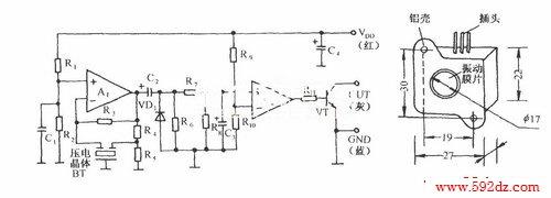 它由自激式振荡器,整流电路