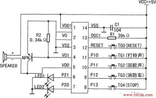 ml-03yd型三合一语音电路