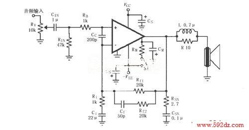 lm4780的辅助音频功率放大电路