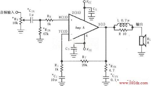 lm4765的辅助音频功率放大电路