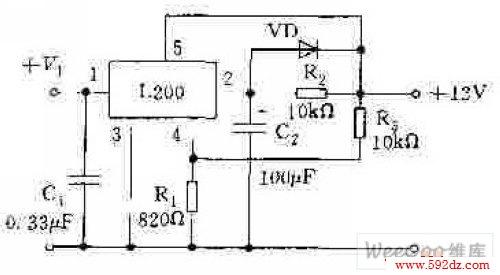 l200构成电源中的软启动电路图