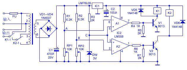 电路原理:本稳压器的电路原理如下图所示.