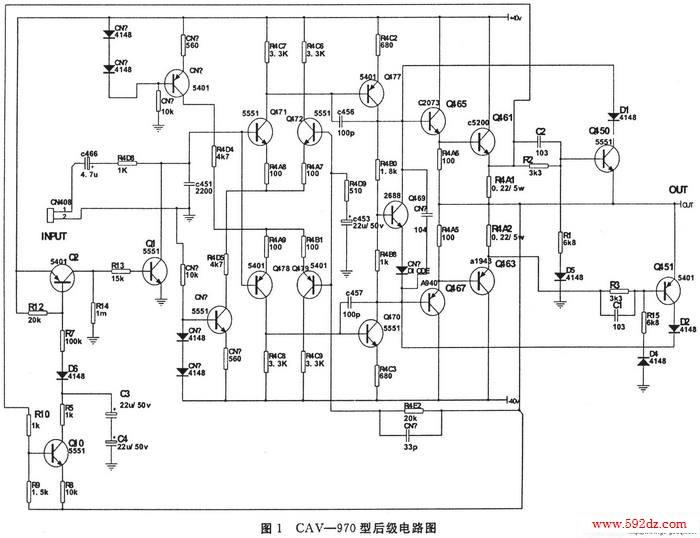 双差分,双恒流源oci.功放电路,本文只对其保护电路作一些介绍.